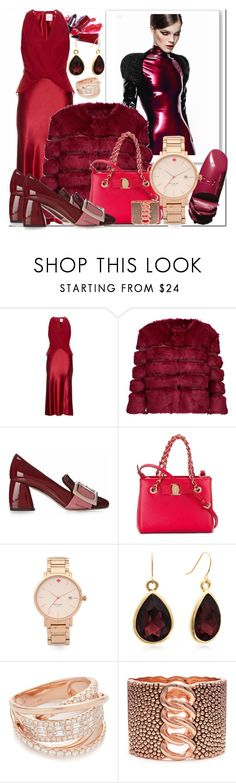 """""""Look Stylish in Satin!!"""" by stylediva20 ❤ liked on Polyvore featuring Marni, Dion Lee, AINEA, Miu Miu, Salvatore Ferragamo, Kate Spade and Shay"""