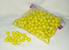 Marbles Glass Yellow 250 pcs Great for Crafts by WMCraftSupplies