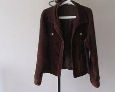 Retro Brown Cord Jacket. Retro Wallis 1990 Brown Cord Jacket. Vintage Cord Jacket. Women's Cord Jacket. Size 14 Short Brown Cord Jacket.