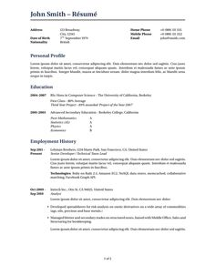 latex resume examples resume samples pinterest resume