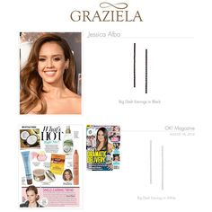 One Sale Now: Our Dash Collection has been a hit on the red carpet as well as an editorial favorite. White topaz or black spinel set in multiple finishes creates a classic yet fashion forward look. As seen on the beautiful Jessica Alba and featured in OK! Magazine.   #grazielagems