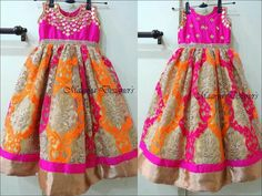 Kids frocks Baby Girl Party Dresses, Dresses Kids Girl, Kids Outfits, Baby Dress, Kids Indian Wear, Kids Ethnic Wear, Long Frocks For Girls, Girls Frocks, Little Girl Fashion