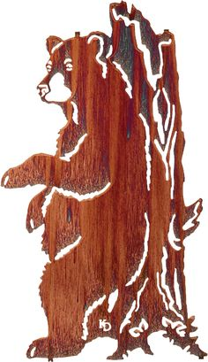 This bear and stump plaque is the perfect addition to any wall!