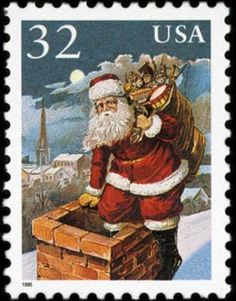 Items similar to Santa Claus Christmas Gift USA -Handmade Framed Postage Stamp Art 15904 on Etsy Christmas Past, Christmas Images, Xmas, Vintage Stamps, Vintage Cards, Art Postal, Postage Stamp Art, Tampons, Vintage Santas