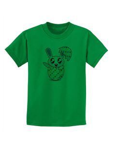 TooLoud Bunny Hatching From Egg Childrens T-Shirt