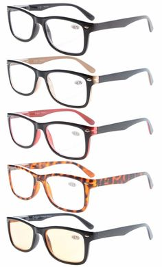 871174597e1 Eyekepper 5-Pack Classic Spring-Hinges Quality Reading Glasses Include  Computer Readers R075-5pc-Mix