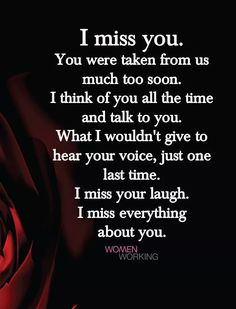 I miss my mom, my grandma, and my baby everyday💜 I Miss My Daughter, Miss You Mom, Missing My Brother, Missing You So Much, Just One Last Time, Mom Quotes, Life Quotes, Grieving Quotes, Grief Loss