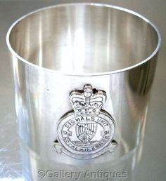 Rare #Scottish Solid #Silver #Napkin RIng crest of #RAF 91 #Signals Unit by @galleryantiques @Etsy £70.00