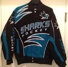 San Jose SHARKS Cotton Twill Jacket - 2014 Shred Twill Jacket by G-III