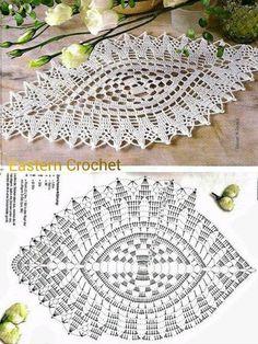 45 Ideas For Mandala Art Design Circles - Diy Crafts Filet Crochet, Crochet Doily Diagram, Crochet Diy, Crochet Doily Patterns, Crochet Mandala, Crochet Chart, Crochet Squares, Crochet Home, Thread Crochet