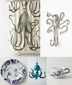 Octopus Decor (http://blog.hgtv.com/design/2013/08/01/daily-delight-octopus-decor/?soc=pinterest)
