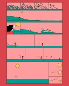 753 Likes, 17 Kommentare - María . Digital Illustration, Graphic Illustration, Storyboard, Bd Art, Comic Layout, Ligne Claire, Comic Panels, Comic Styles, Cool Posters