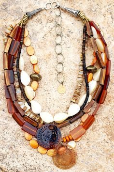 Organic | Necklace | Horn | Shell | Mother of Pearl | Exotic | XO Gallery | XO Gallery