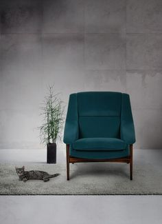 A piece of mid-century modern furniture, INCA armchair is upholstered in velvet and will pop in a contemporary living room set. Discover more: https://www.brabbu.com/product/upholstery/inca-armchair