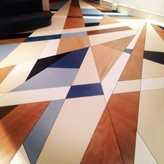 Bespoke floor by Mark McClure, Stand Hall Tent London 2015 www.markmccl… - Home Decor Floor Design, Tile Design, House Design, Design Art, Tiles Texture, Wood Texture, Floor Patterns, Tile Patterns, Planchers En Chevrons