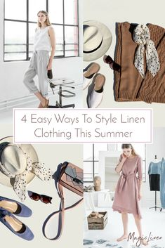 fe017101df At MagicLinen we want to show you four easy ways to style linen this summer  and