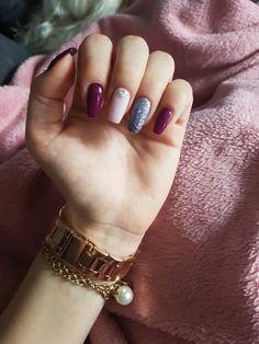 #nails#nail#homemade#inspiration#autumn#snow#winter#burgundy#semigirl#semilac#pink#marshmallow#indigo#nailart#art