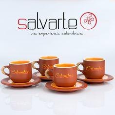 Salvarte nos trae este set de vajilla y mugs, darán un toque muy Colombiano a tu hogar. Pintados a Mano. #Salvarte
