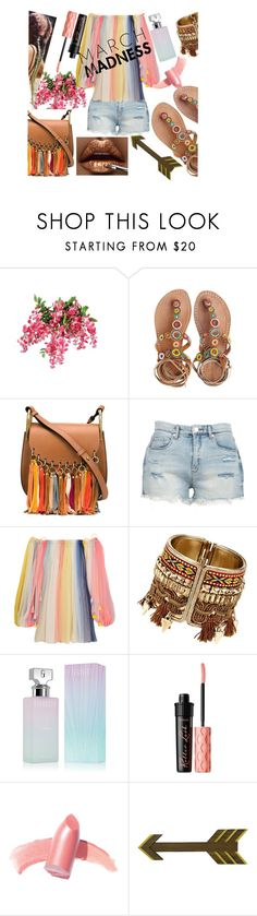 """March Madness"" by cmmclara998 ❤ liked on Polyvore featuring Laidback London, Chloé, BLANKNYC, Calvin Klein, Benefit and Elizabeth Arden"
