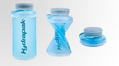 Hydrapak Stash Water Bottle -- The collapsible soft walled bottle integrates an innovative molded top and bottom that snaps together for easy storage and transport. When ready to drink, simply squeeze to release, remove screw-cap, and fill. The 1L Stash is a perfect companion for camping, adventure travel, and every day use.