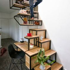 Stairs/Desk/Cupboard