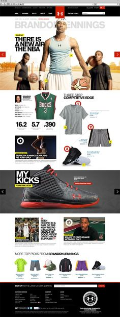 Under Armour - Badrul Rupak image slider- in the middle of the page Web Layout, Webpage Layout, Website Design Layout, Layout Design, Modern Web Design, Web Ui Design, Graphic Design, E Commerce, Ui Web