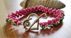 Sweetheart Hugs Beadwork Bracelet  Beaded by BlueWorldTreasures