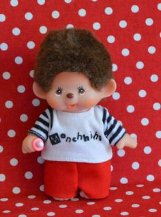 Collectible Sekiguchi Monchhichi Doll by VintageToysForAll on Etsy Doll Toys, Dolls, Star Cards, Little Twin Stars, Hello Kitty, Im Not Perfect, Arms, Snoopy, Kawaii