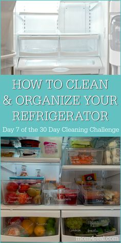 How to clean and organize the refrigerator – Tips For The Best Organizations Clean Refrigerator, Refrigerator Organization, Kitchen Organization Pantry, Organization Ideas, Daily Cleaning, House Cleaning Tips, Deep Cleaning, Cleaning Recipes, Cleaning Hacks