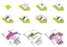 Ordos 100 Villa diagram by Iwamoto Scott