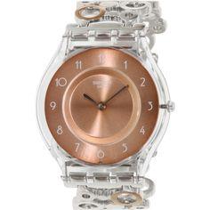 Swatch Women's Skin SFK395HB Silver Stainless-Steel Swiss Quartz Watch