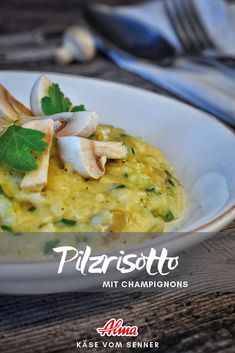 Leckeres Rezept für den Winter. Das Pilzrisotto kann schnell und einfach zubereitet werden.
