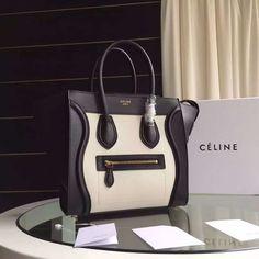 Celine Two-tone Micro Mini Luggage Handbag 100% Authentic Designer Bags For  Less 929a19713c27e