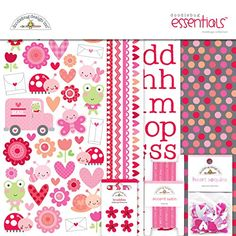 Doodlebug Designs Lovebugs Essentials Kit Valentine Scrapbook Paper