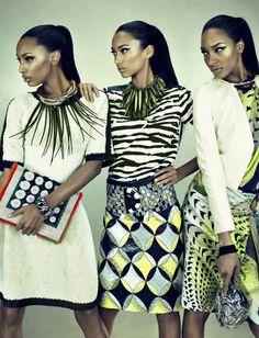 Anais Mali, Jasmine Tookes, Jourdan Dunn by Emma Summerton for W Magazine March 2012 6