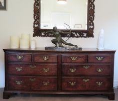 Allpress Antiques Furniture Melbourne Victoria Australia: A very rare 18th Century English Oak low dresser/dual chest AA1957