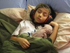 mommys bed and sound proof headphones help with loud thunder storms