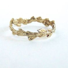 Yellow gold #leaf #ring