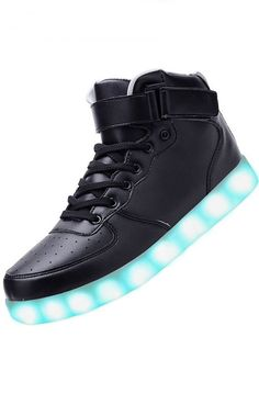 Grossiste Chaussure Lumineuse Montante Led Noir Adulte
