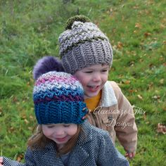 The 'Bean There' Slouch Hat is named for its great, fun texture that works up really quick with endless colour options! We've all 'Bean There' and needed a quick, versatile last minute gift!! The pattern includes sizes toddler, child/teen and adult with options for a toggle button tab brim or regular ribbed brim. The regular brim can be worn on the slouchy side or folded up for a more traditional toque look