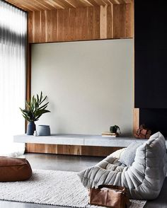 Ligne Roset's grey Togo featured in this living room