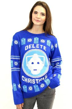 The Official #DoctorWho Cyberman Christmas Sweater!