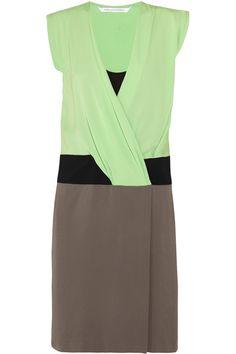 Diane von Furstenberg Nori silk-crepe dress - 60% Off Now at THE OUTNET