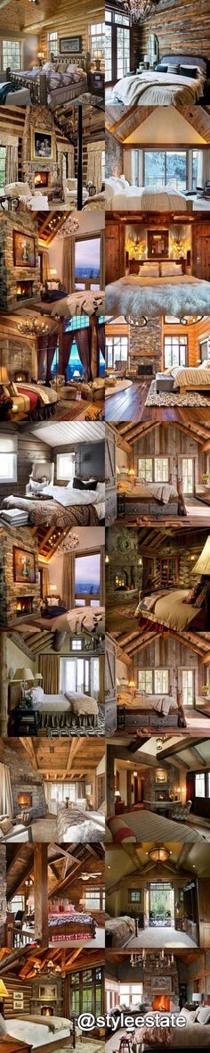 56 Extraordinary Rustic Log Home Bedrooms - Pinned for ForeclosuresToGo.com the Internet Authority on Bargain Priced Homes