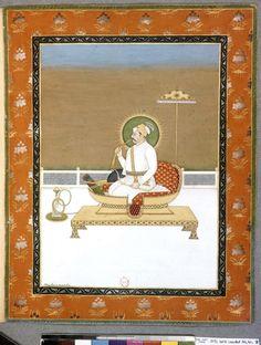 Lodi Dynasty, Muhammad Shah, Mughal Empire, Bnf, Indian Paintings, Illuminated Manuscript, Emperor, Turban, Persian