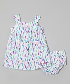 Look what I found on #zulily! Calvin Klein Underwear White & Purple Dress & Diaper Cover - Infant by Calvin Klein Underwear #zulilyfinds