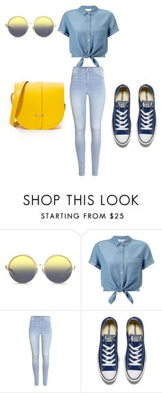 """Untitled #91"" by mirelazenunovic ❤ liked on Polyvore featuring Matthew Williamson, Miss Selfridge, H&M, Converse and The Cambridge Satchel Company"