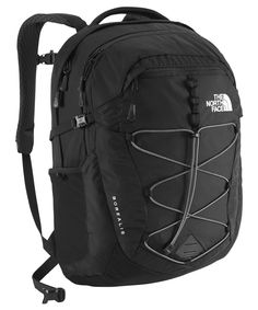 The North Face Women's Borealis Backpack TNF Black - One Size. Large main compartment with laptop sleeve, tablet sleeve and hydration port. Women-specific, FlexVentTM injection-molded shoulder straps with additional PE foam for added comfort. Comfortable, padded Chemise back panel with Spine Channel and PE sheet for extra back support.