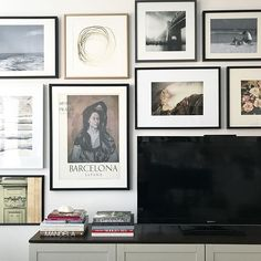 Art and television design tip! Placing art around a TV is always a good idea, especially when you have limited wall space in your home. Vanessa Francis Design