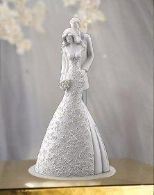 Topo De Bolo Casamento Noivinhos - Embrace - Pronta Entrega - R$ 249,90
